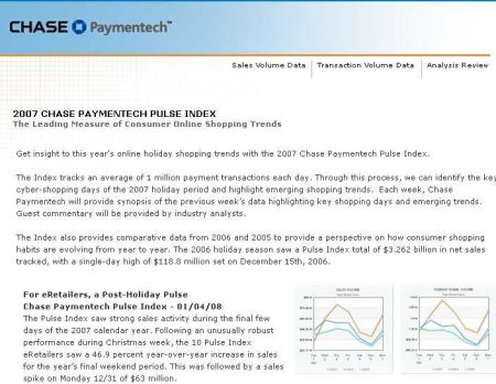 Chase Paymentech web page
