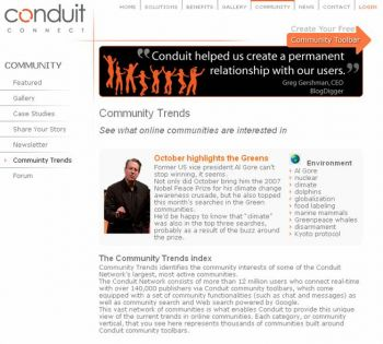 Conduit Community Trends