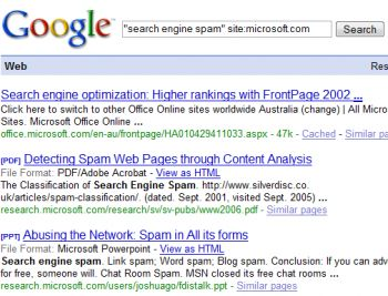 search engine spam