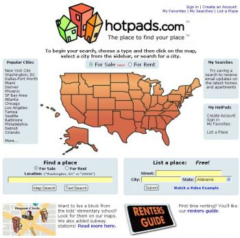 HotPads home page