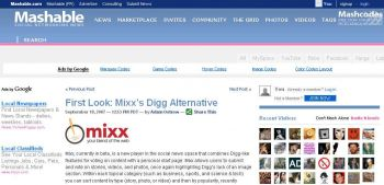 Mashable Mixx First Look