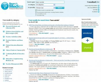 SearchMedica Search Result