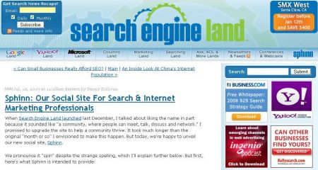 Search Engine Land Sphinn
