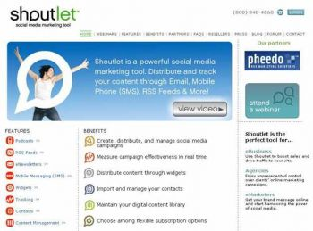Shoutlet homepage