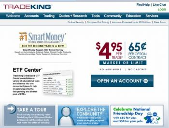 TradeKing Home Page