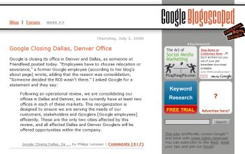 Google closing Dallas office
