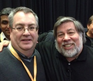 Steve Wozniak, the Co-Founder of Apple Computer, with Search Engine Optimization Expert Bill Hartzer