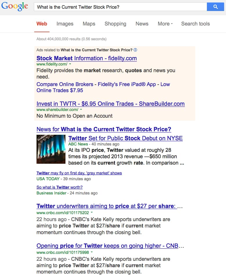 Google Hummingbird Algorithm Fail: What is the Current Twitter ...