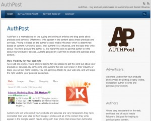 authpost home page