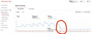 google webmaster tools search queries google penguin