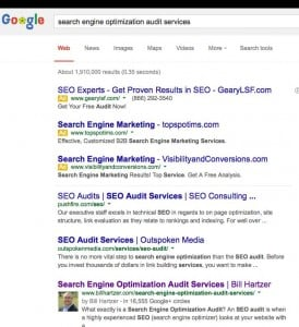 search engine optimization audit services