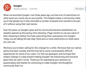 google real name policy