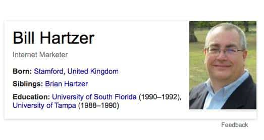 Bill Hartzer previous Knowledge Graph