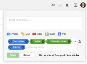 google plus sharing