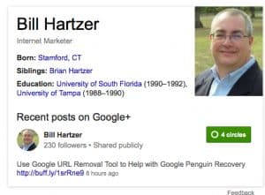 Bill Hartzer Knowledge Graph