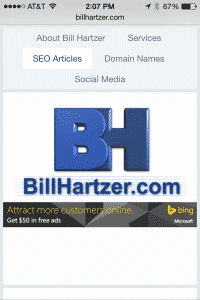 bill hartzer mobile friendly site