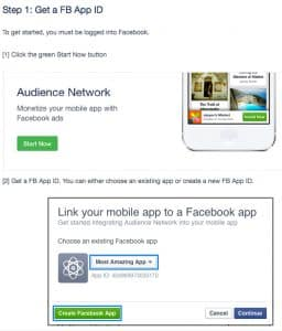Facebook Audience Network getting started