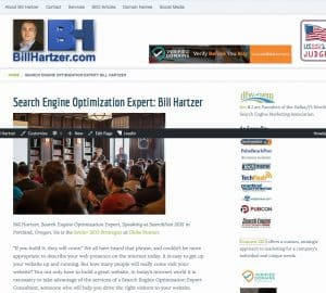 search engine optimization expert Bill Hartzer