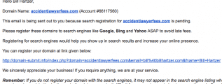 search engine registration spam