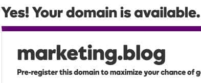 marketing.blog domain name for sale