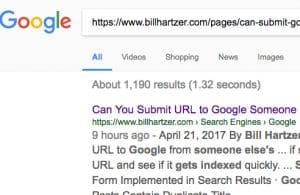 submit url to google