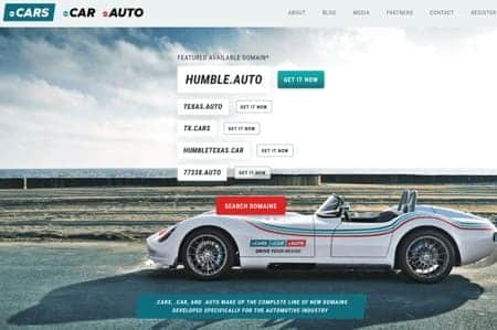 Go.CARS home page