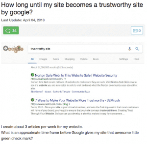 google trustworthy site
