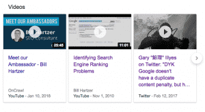 Bill Hartzer search results with videos 3 pack