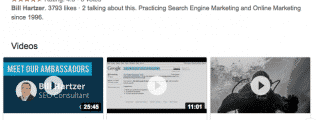 Bill Hartzer search results with videos