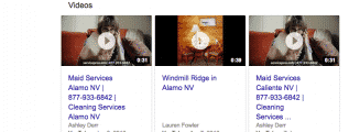 google 3 pack videso local search