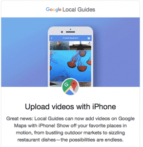 Google Local Guide Upload Video