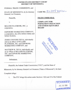 FTC complaint, Sellers Playbook