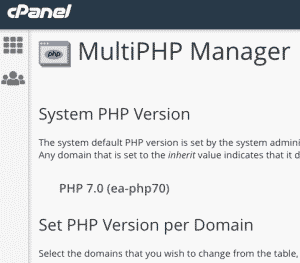 cpanel multiphp manager