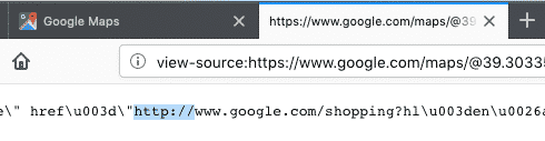 Google Loads Maps Results over HTTP