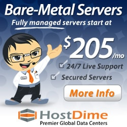 BareMetal web hosting by HostDime