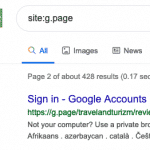 Google My Business Short Names are 302 Redirects to Google Search Results