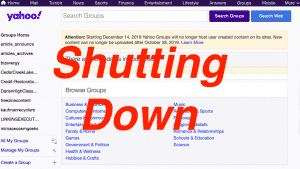 Yahoo Groups Shutting Down