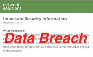network solutions suffers data breach in 2019