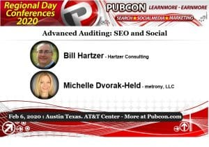 Bill Hartzer Michelle Dvorak-Held Advanced Auditing SEO and Social