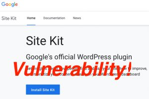 Site Kit by Google vulnerability