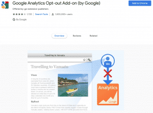 opt out of google analytics