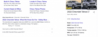 Google results auto chevrolet pricing